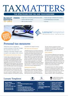 Federal Budget 2015 tax