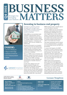 Leenane Templeton Chartered Accountants Business Matters Newsletters Q4 2016