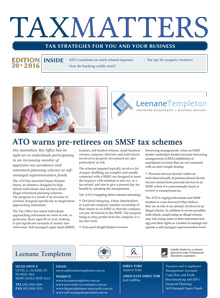 Tax Matters Newsletters September 2016