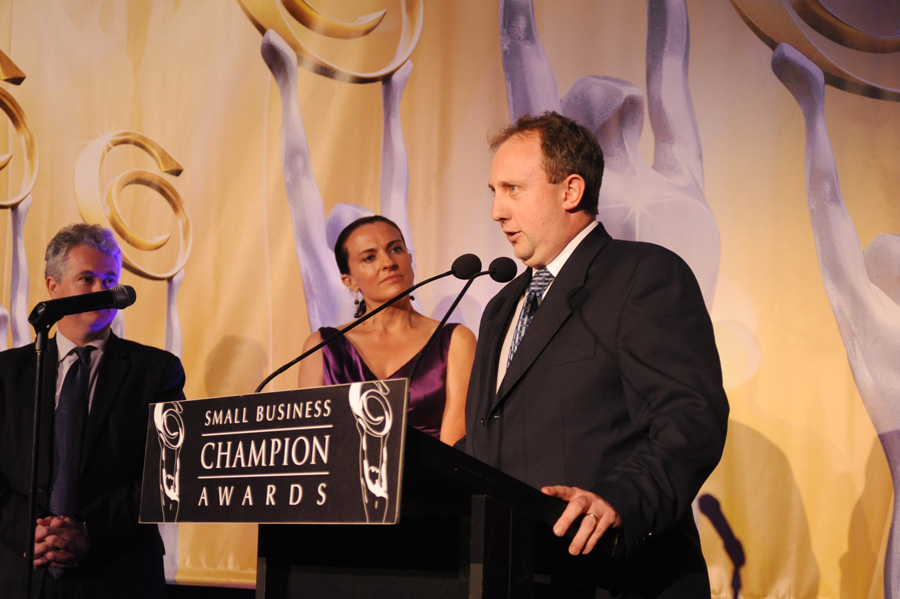Andrew Frith at Small Business Champion Awards