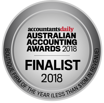 We've been shortlisted for the prestigious Australian Accounting Awards 2018.
