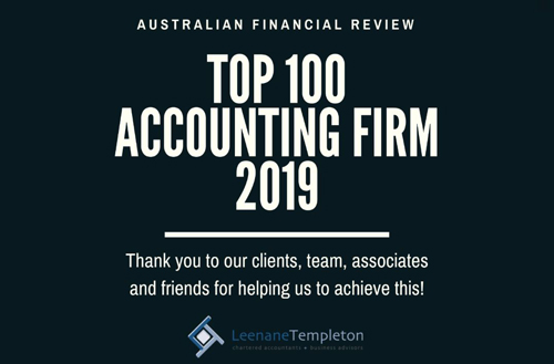 Australian Financial Review Top 100 Accounting Firm