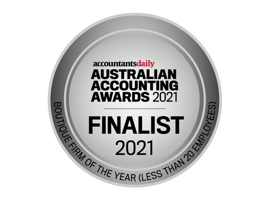 Finalist for Australian Accounting Awards 2021